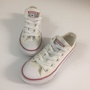 Converse all-star white low top SZ 11.5